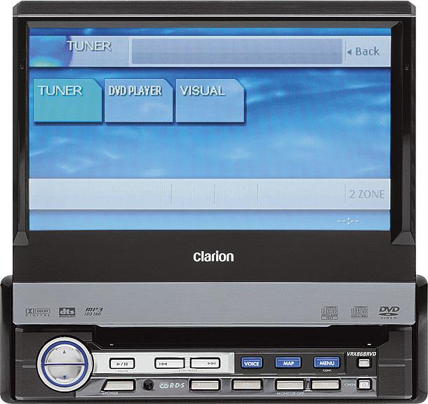 мультимедийное головное устройство Clarion VRX868RVD