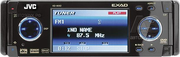 головное устройство с DVD JVC KD-AVX2