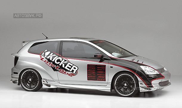 Аудиосистема в Honda Civic на компонентах Kicker