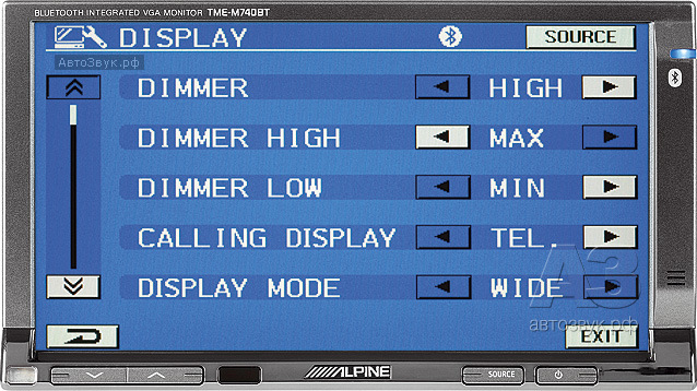 монитор с Bluetooth-интерфейсом Alpine TME-M740BT