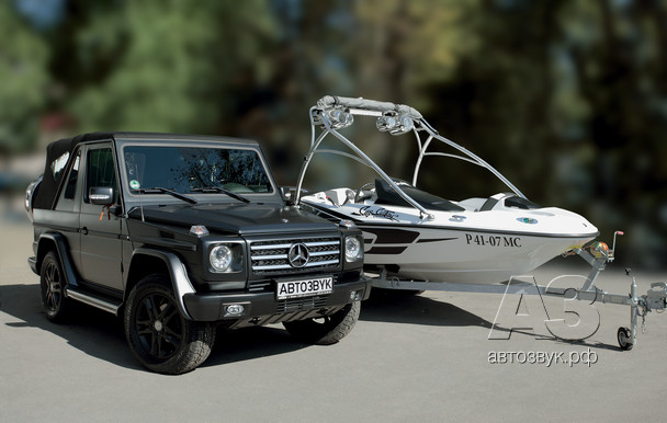 Аудиосистема в Mercedes-Benz 350 GD Turbo Cabrio & BRP Sea Doo 150 Speedster