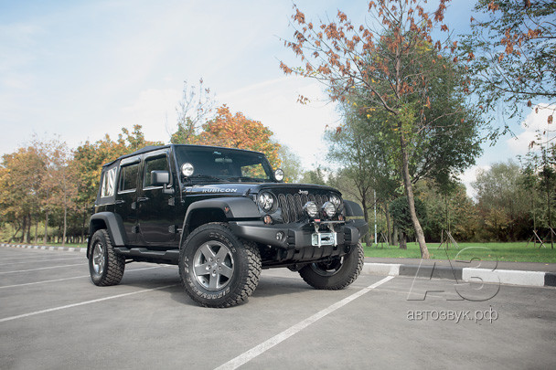 Аудиосистема в Jeep Wrangler Rubicon