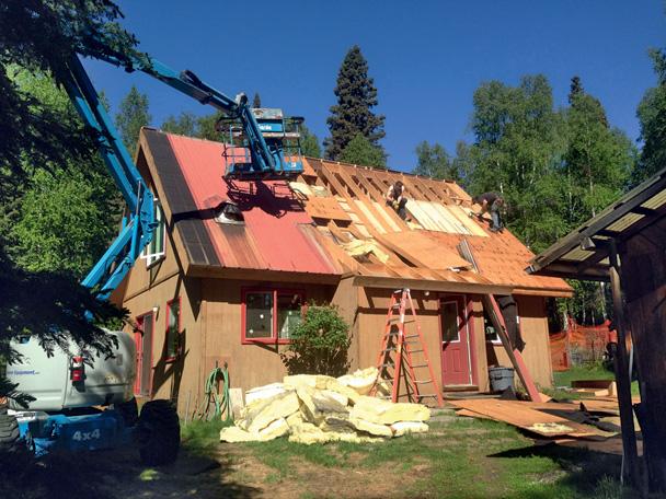 Снос крыши