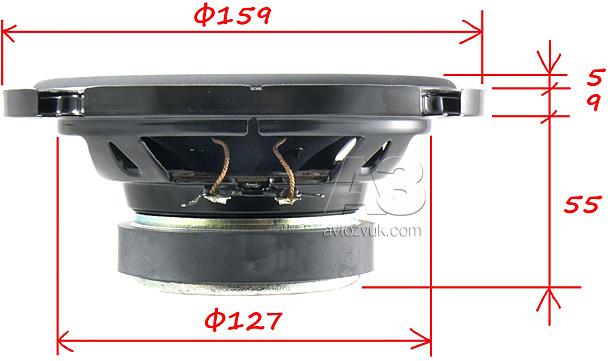 размеры мидбаса Pioneer TS-A173CI