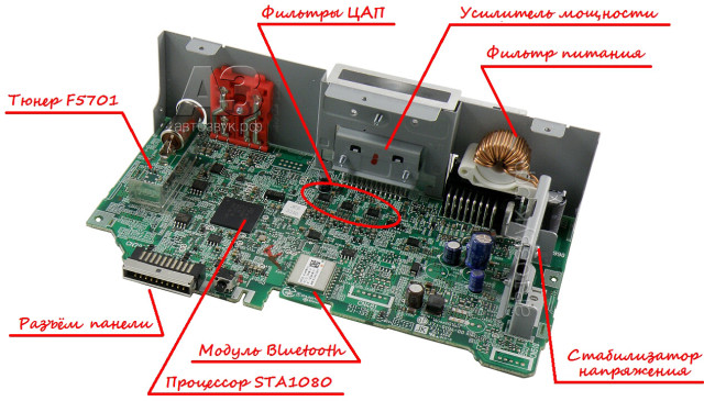JVC KD-X330BT плата