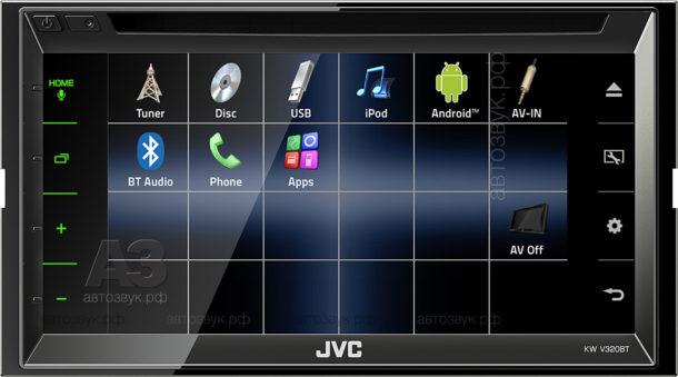 Мультимедийное ГУ JVC KW-V320BT