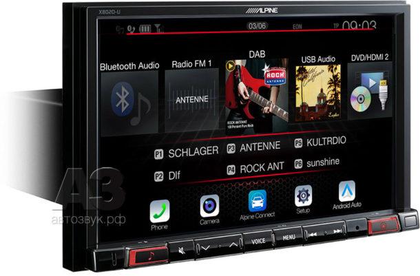 Мультимедийно-навигационное устройство Alpine X802D-U