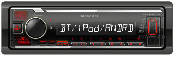 Медиаресивер Kenwood KMM-BT205