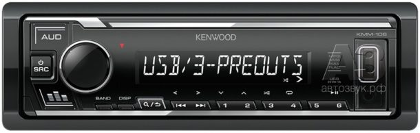 Бездисковый ресивер Kenwood KMM-106