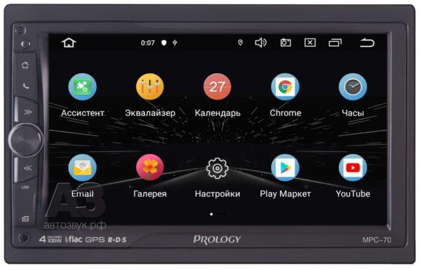 Тест головного устройства PROLOGY MPC-70 (Android 9.0)
